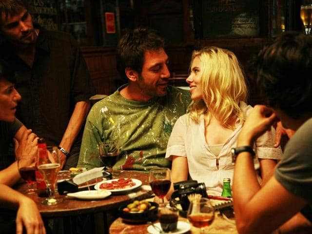 In-Vicky-Cristina-Barcelona-2008-Scarlett-plays-the-very-young-and-saucy-Cristina-who-is-enamored-with-a-painter-Javier-Bardem-unaware-that-his-ex-wife-Penelop-Cruz-with-whom-he-has-a-tempestuous-relationship-is-about-to-re-enter-the-picture-This-was-one-of-her-most-talked-about-roles-in-a-Woody-Allen-film