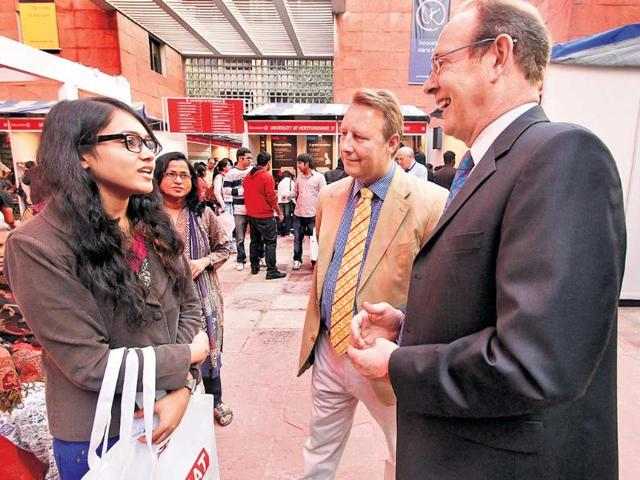 British-high-commissioner-James-Bevan-right-with-British-Council-India-director-Rob-Lynes-Centre-at-the-UK-education-fair