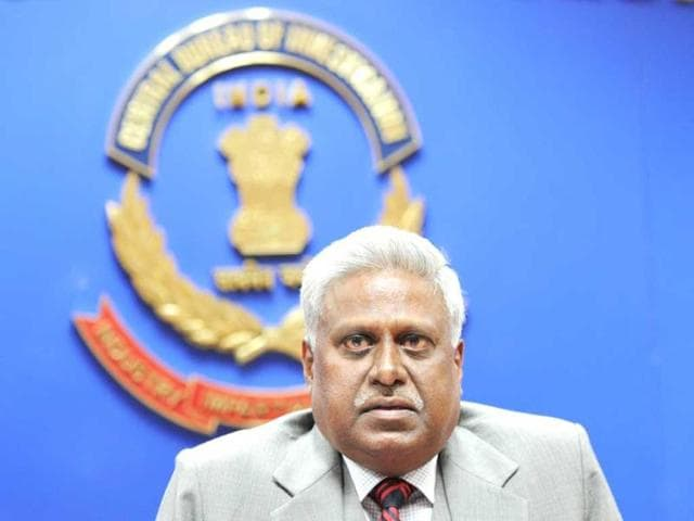 A-file-photo-of-former-Central-Bureau-of-Investigation-director-Ranjit-Sinha-speaking-with-the-media-in-New-Delhi-AFP-Photo