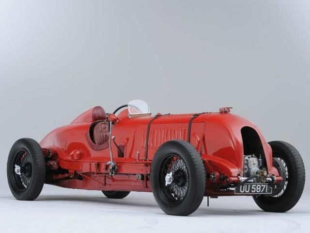 This car set the Outer Circuit record of 137.96mph at Brooklands in 1932 before going on to become the most expensive UK car ever sold at auction, going under the hammer this year for £5 million. Photo: AFP/International Historic Motoring Awards