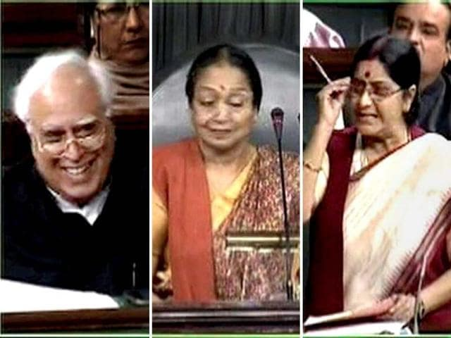 A-combination-photo-of-Lok-Sabha-Speaker-Meira-Kumar-Communications-and-IT-minister-Kapil-Sibal-and-Opposition-Sushma-Swaraj-during-the-debate-on-FDI-in-retail-in-Lok-Sabha-PTI-Photo