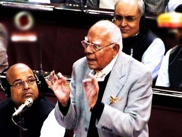 BJP-member-Ram-Jethmalani-speaks-during-the-debate-on-FDI-in-Rajya-Sabha-in-New-Delhi-PTI-TV-grab