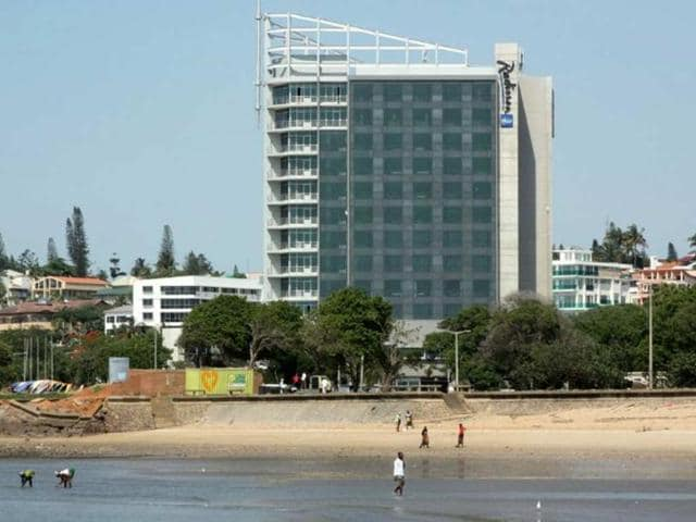A-photo-taken-on-Novermber-29-2012-shows-the-Radisson-Hotel-on-the-Maputo-seafront-The-gleaming-12-storey-steel-and-glass-edifice-is-a-familiar-feature-on-Maputo-s-skyline-despite-the-fact-the-luxury-hotel-has-never-opened-its-doors-Photo-AFP-Jinty-Jackson
