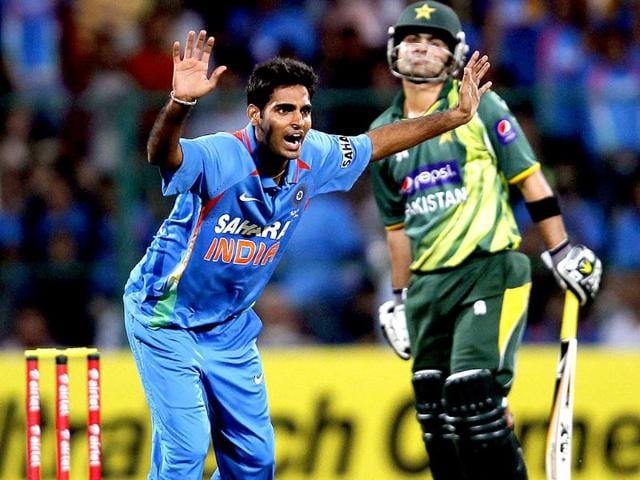 Bhuvneshwar-Kumar-appeals-successfully-for-the-dismissal-of-Pakistan-s-Ahmed-Shehzad-during-the-first-Twenty-20-match-between-India-and-Pakistan-at-Chinnaswamy-Stadium-in-Bangalore-HT-Photo-Ajay-Aggarwal
