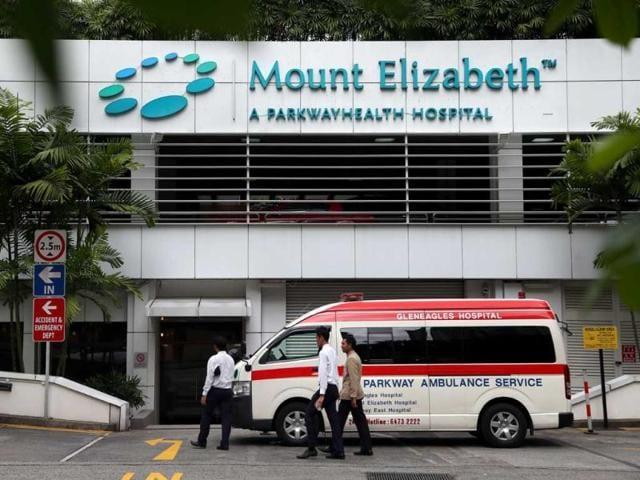 The 23-year-old victim of a brutal gang rape in the national capital that has horrified many in the country has been admitted to the Mount Elizabeth hospital in Singapore on Thursday morning after the plane carrying the girl landed at the Changi International Airport at 5:30 am.