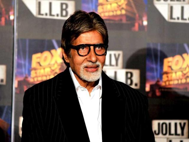 Amitabh Bachchan poses at a function for the forthcoming Hindi film