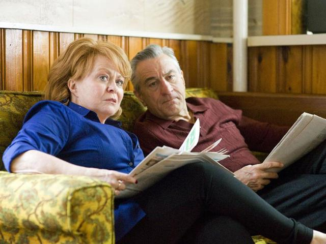 This publicity film image released by The Weinstein Company shows Jacki Weaver and Robert De Niro in Silver Linings Playbook. Weaver and De Niro were nominated for an Academy Award for best supporting actress and actor for their roles in Silver Linings Playbook. AP Photo