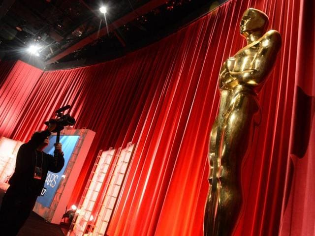 The Oscar statuette is viewed at the Samuel Goldwyn Theartre in Beverly Hills, California. The famous golden statuettes, to be handed out on February 24. AFP Photo