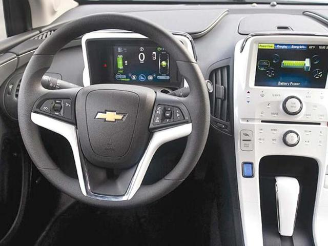 Dash is a mix of high-tech screens and standard Chevrolet interiors.