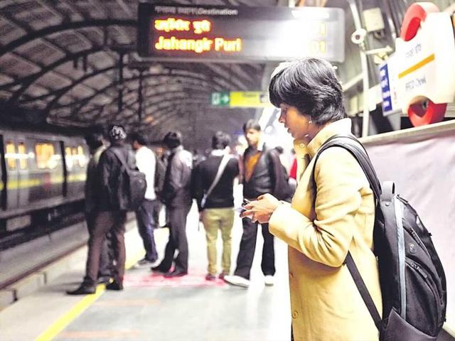 Josna-Joseph-takes-the-Metro-to-Gurgaon-every-day-and-always-travels-in-the-women-s-coach-Despite-that-men-have-misbehaved-with-her-and-she-has-not-reported-them-because-she-says-she-knows-the-cops-won-t-support-her-HT-photo