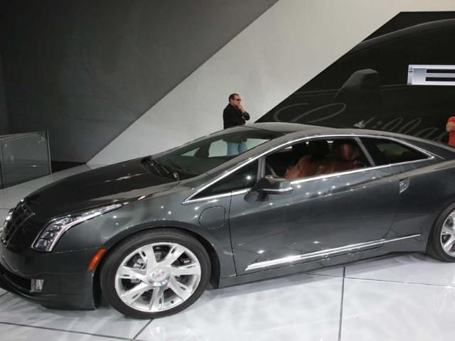 Cadillac ELR: Due to go into production later this year, the Cadillac ELR is a plug-in hybrid sports coupe, which means it pairs an electric engine with a gasoline engine to extend range while reducing pollution. Official performance figures are currently unavailable. Photo:AFP