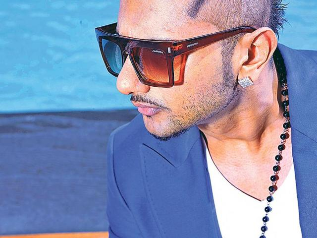 Singer-and-rap-artist-Yo-Yo-Honey-Singh-was-recently-spotted-in-Delhi-Dressed-in-a-blue-suit-and-flaunting-heavy-bling-the-31-year-old-music-producer-was-in-town-for-a-promotional-event-He-is-known-for-his-hit-songs-Blue-Eyes-Lungi-Dance-and-Angrezi-Beat-among-others-HT-Photo