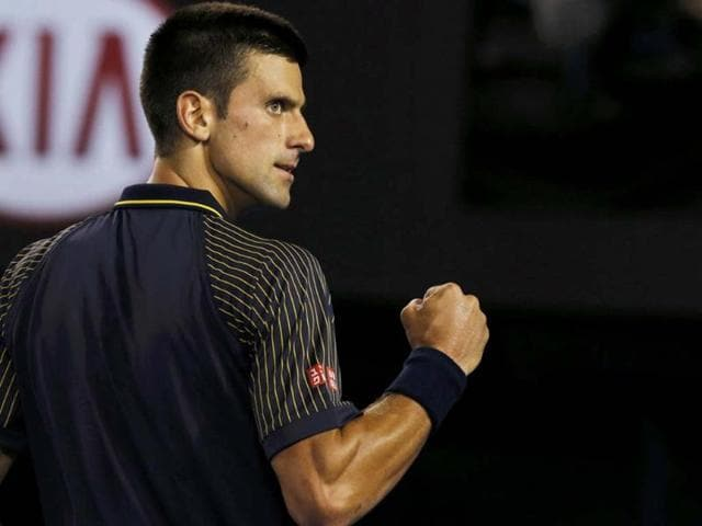 Novak-Djokovic-of-Serbia-celebrates-breaking-David-Ferrer-of-Spain-s-serve-in-the-third-set-during-their-men-s-singles-semi-final-match-at-the-Australian-Open-tennis-tournament-in-Melbourne-Reuters-Damir-Sagolj