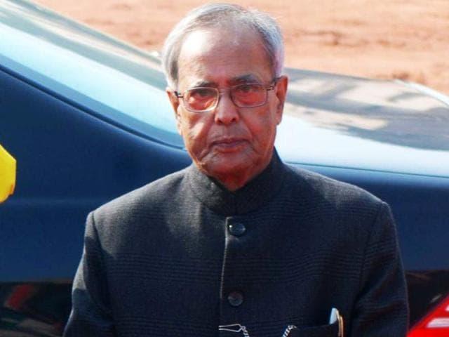 A-file-photo-of-President-Pranab-Mukherjee-at-a-ceremonial-reception-at-Rashtrapati-Bhavan-in-New-Delhi-UNI