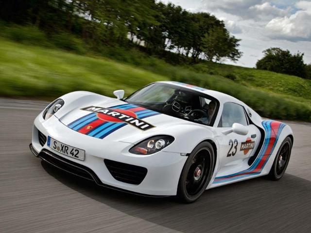 Prototype Porsche 918 Spyder Martini racing design. Photo:AFP