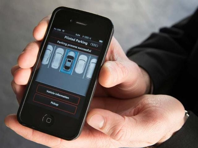 The Piloted Parking system allows the driver to park the car via their smartphone. Photo:AFP