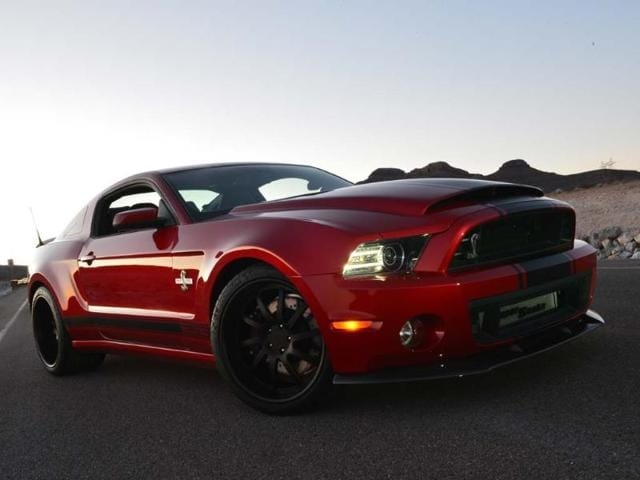 The 2013 Shelby GT500 Super Snake 'Wide Body' is for drivers who feel the standard 662hp in their standard Mustang GT500 is not enough. Photo:AFP