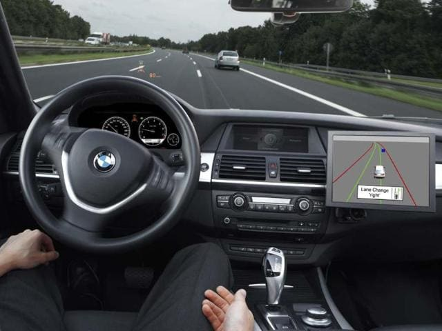 BMW Connected Drive Technology. Photo:AFP