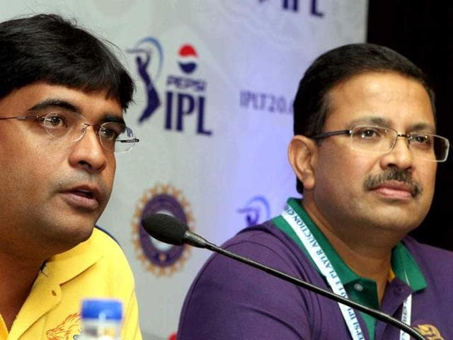 File-photo-of-Chennai-Super-Kings-owner-Gurunath-Meiyappan-along-with-KKR-s-Venkatesh-Mysore-addressing-a-press-conference-in-Chennai-PTI