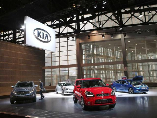 Kia's Cross GT concept car is on display during the media preview of the Chicago Auto Show at McCormick Place in Chicago. (AFP photo)