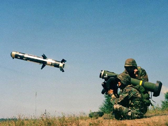 Javelin anti-tank guided missiles
