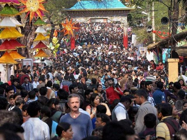 Surajkund-Mela-witnessed-a-heavy-rush-on-a-weekend-in-Faridabad-on-Sunday-Photo-PTI