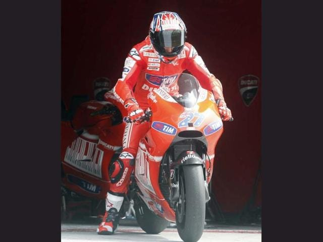 Ducati rejoined Grand Prix motorcycle racing in 2003, after a 30-year absence and on September 23, 2007, Casey Stoner clinched his and Ducati's first Grand Prix World Championship. Photo:AFP/Kamarul Akhir