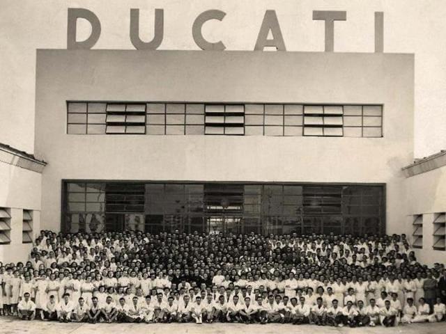 Ducati factory 1939. Photo:AFP
