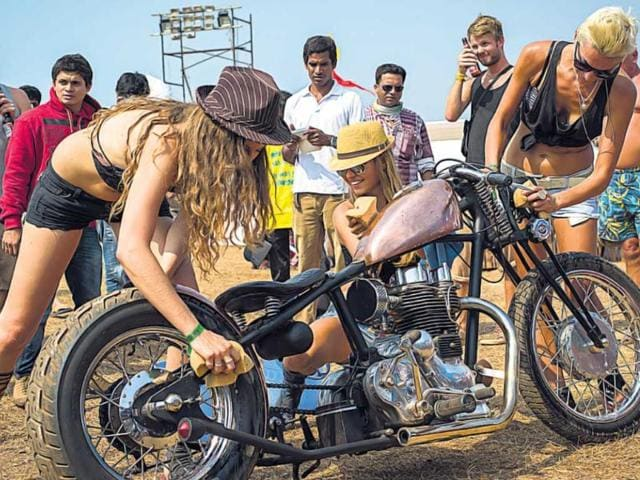 Top: with so much of glitz, can the babes be far behind? Photo:HT/Hari Warrier