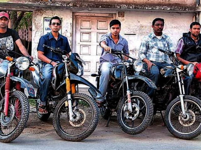 Five-of-the-seven-riders-from-Kolkata-with-their-machines-before-they-were-transported-to-New-Delhi-for-the-Desert-Storm-beginning-on-Monday-HT-Photo