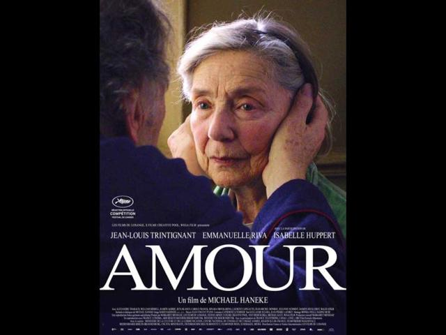Oscar-nominated Amour is a touching film about an octogenarian couple, Georges and Anne. They are cultivated, retired music teachers. Their daughter, who is also a musician, lives abroad with her family. One day, Anne has an attack. The couple