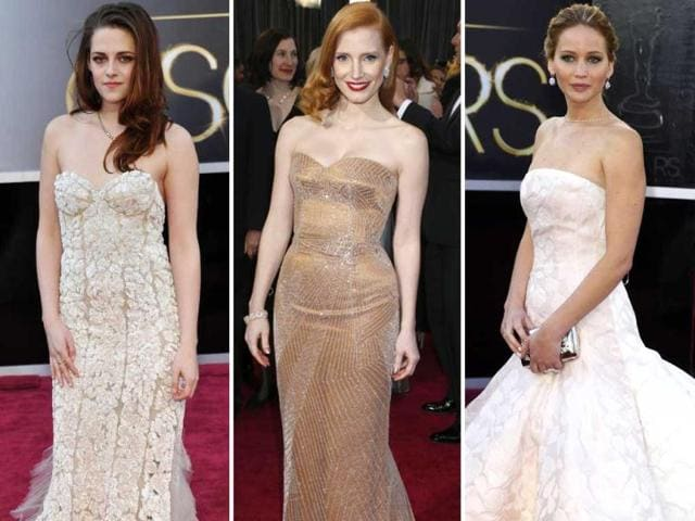 This year at the 85th Academy Awards, most celebrities were seen wearing off-shoulder gowns at the red carpet. Check out who wore what!
