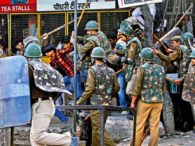 Police-cane-charge-protesters-in-outer-Delhi-s-Mangolpuri-on-Friday--Arijit-Sen--HT-photo