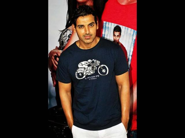 Actor-John-Abraham-strikes-a-hot-pose-during-a-promotional-event-for-his--film-I-Me-Aur-Main-in-Mumbai-AFP-PHOTO