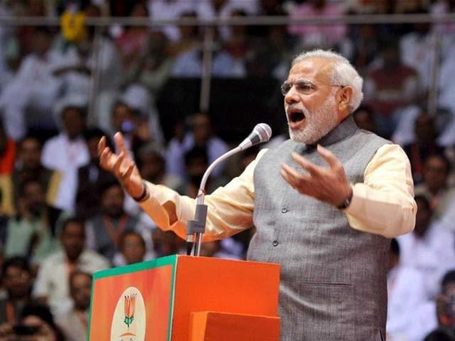 Prime Minister Narendra Modi plays development card
