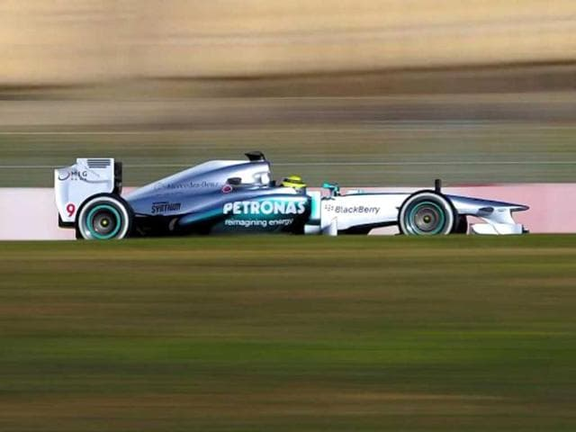 Mercedes-AMG-F1-had-an-ominous-start-to-pre-season-testing-with-both-Nico-Rosberg-pictured-and-Lewis-Hamilton-doing-barely-any-running-on-the-first-two-days-AFP