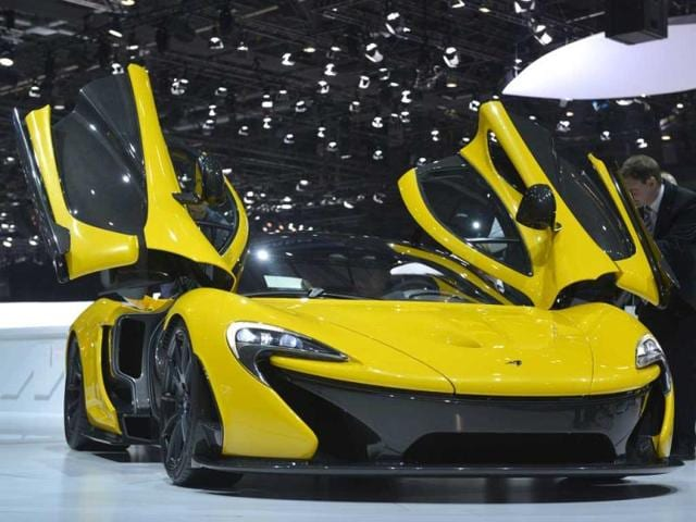 The new McLaren P1 is displayed in World premiere at the Geneva International Motor Show which opens its doors under a dark cloud, with no sign of a speedy rebound in sight for the troubled European market. AFP photo