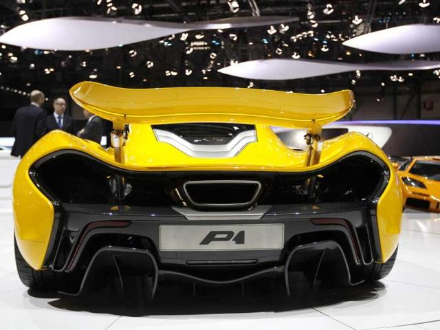 The McLaren P1 car is pictured during the second media day of the 83rd Geneva Car Show at the Palexpo Arena in Geneva. (Reuters)