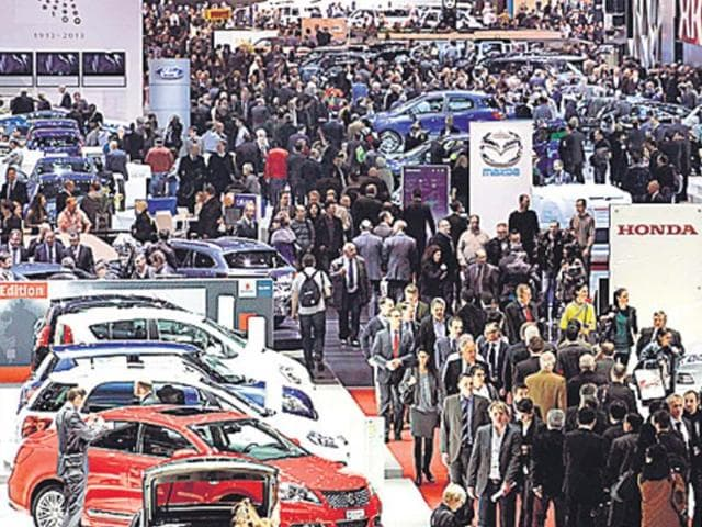 Visitors-during-the-second-media-day-of-the-83rd-Geneva-Car-Show-on-Wednesday-Photo-Reuters