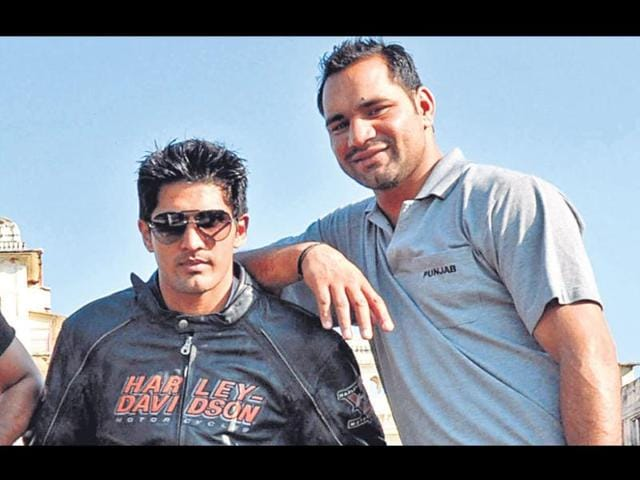 Vijender-Singh-who-won-bronze-at-2008-Bejing-Olympics-with--Ram-Singh-at-NIS-Patiala--Bharat-Bhushan-HT-file-photo
