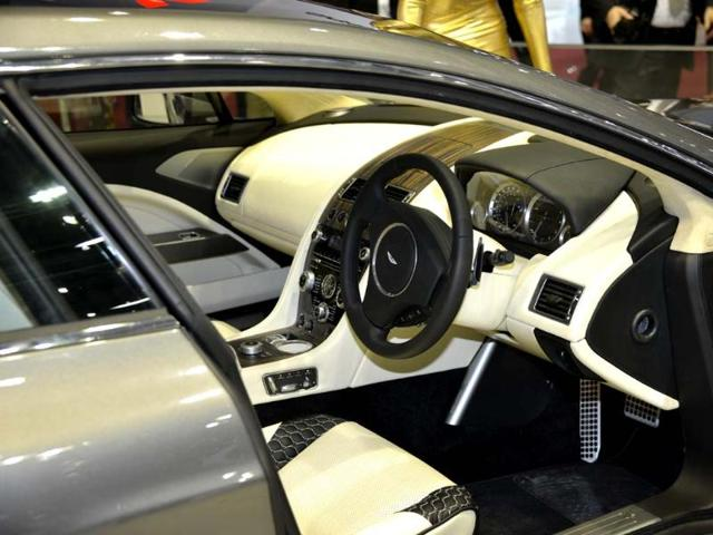 Based on the Aston Martin Rapide, the Bertone retains the original car's mechanical engineering and interior fittings. Photo:AFP