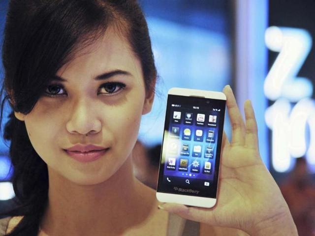 BlackBerry,Z10 smartphone,Nasdaq