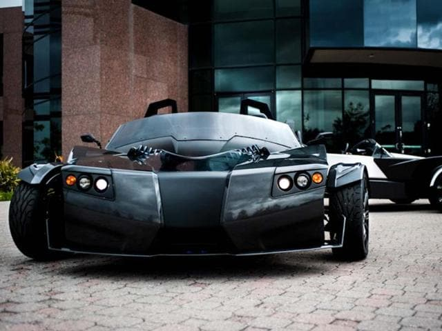 According to its makers Epic EV, the TORQ Roadster is the world's fastest three-wheel electric vehicle and can generate more G-force in a corner than a Ferrari. Photo:AFP