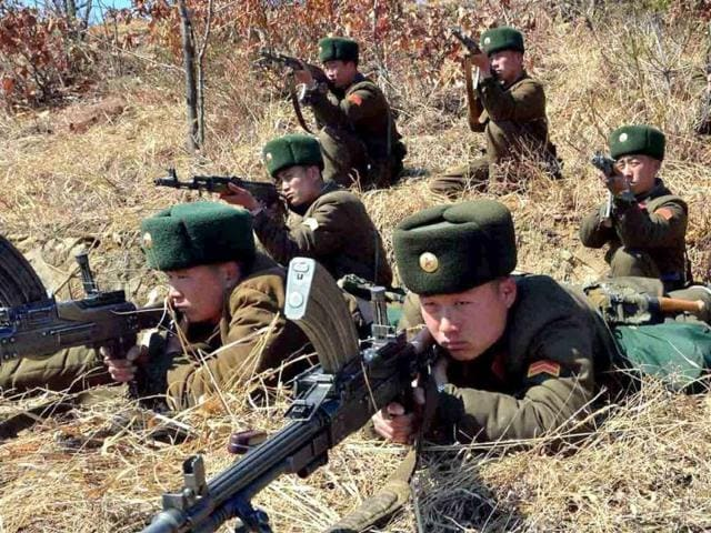 This-picture-taken-by-North-Korea-s-official-Korean-Central-News-Agency-shows-North-Korea-s-Korean-People-s-Army-soldiers-at-an-undisclosed-location-in-North-Korea-AFP-photo-KCNA-via-KNS