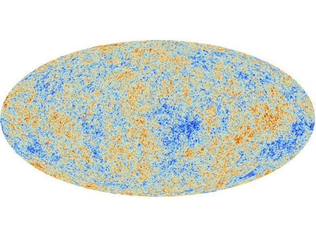 An-image-acquired-by-ESA-s-Planck-space-telescope-shows-the-most-detailed-map-ever-created-of-the-cosmic-microwave-background-revealing-the-existence-of-features-that-challenge-the-foundations-of-our-current-understanding-of-the-Universe-AFP-ESA-Planck-Collaboration