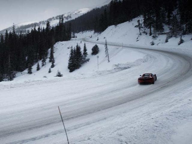 McLaren 12C Spider Loveland Pass Colorado. Photo:AFP