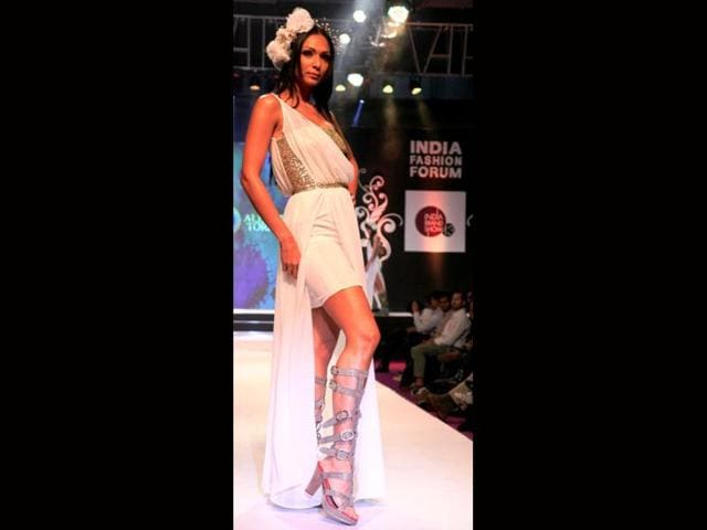A-model-walks-the-ramp-at-the-India-Fashion-Forum-event