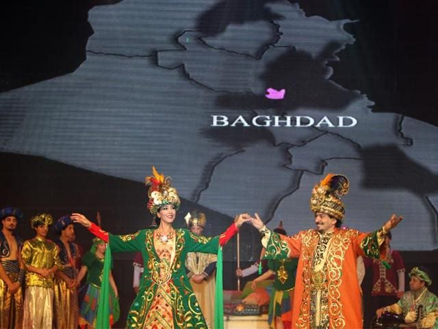 Iraqi-dancers-perform-at-the-al-Khaima-theater-in-Zawraa-Park-in-Baghdad-during-the-opening-night-of-three-days-of-celebrations-to-mark-Baghdad-as-this-year-s-Capital-of-Arab-Culture-on-March-23-2013-Photo-AFP-Ahmad-Al-Rubaye