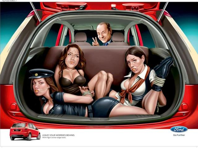 Ford-India-s-advertisement-depicting-Italy-s-former-Prime-Minister-Silvio-Berlusconi-with-a-trio-of-bound-women-in-the-trunk-of-a-car