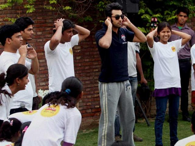 Bollywood-actor-Ranbir-Kapoor-during-a-charity-football-match-in-New-Delhi-on-Thursday-Check-out-the-actor-in-action-PTI-Photo